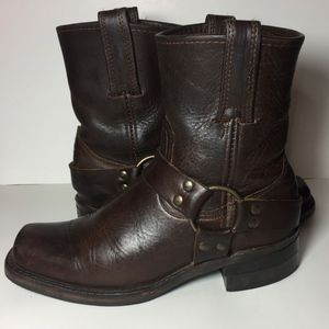Frye 77450 Harness Brown Motorcycle Boots Size 7.5